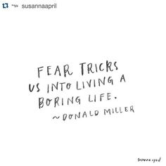 #Repost @susannaapril ・・・ Fear tells lies. They're lame, sucky and more than a little bit annoying & painful. I'm sorry that fear has tricked you into burying your dreams deep in the dirt. I know what it feels like, and my heart goes out to you. You are worth more, loved more and your dreams are far more important than fear will EVER tell you (actually - never tell you). So let this be the last time fear tricks you into living a boring life. Give it the boot, let me tell you, it will be…