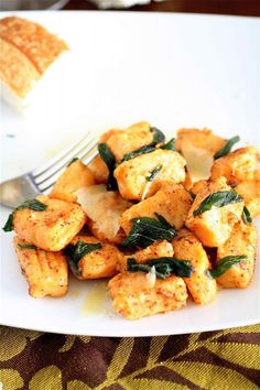 This is the most delicious thing I have EVER cooked: Sweet potato gnocchi in sage brown butter sauce. Bon Appetit via Epicurious via Curvy Carrot.