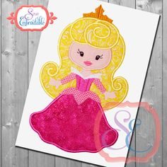 Little Princess 3 Sleeping Beauty Applique Design For Machine Embroidery INSTANT DOWNLOAD by SewEmbroidable on Etsy