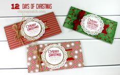 Money Holder or Gift Certificate Holder for Day 11 of the 12 Days of Christmas 2016 using the Wrapped in Warmth Stamp Set and the Candy Cane Lane Designer Series Paper https://mychicnscratch.com/2016/12/days-christmas-2016-day-11.html