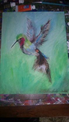Hummingbird Acrylic on canvas  By Lydia Sutton
