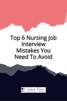Interview Tips For Nurses, Career Planner, Nursing Career, Nurse Life, Mistakes, Love You, Group, This Or That Questions, Learning