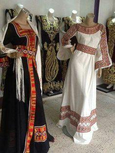 Robe kabyle Algérienne #algeriantraditionaldresses #Algérie #الجزائر #Algeria Mexican Fashion, Indian Fashion, Womens Fashion, Traditional Fashion, Traditional Dresses, Abaya Fashion, Modest Fashion, Ethno Style, Afghan Dresses