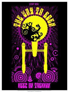 """Groovy poster for Star Trek original series episode """"The Way to Eden"""" by Juan Ortiz."""