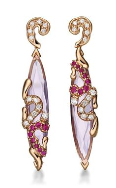 18K Rose Gold with Diamonds, Pink Amethyst and Sapphires. S$3,630 - See more at: http://www.simplyfabulicious.com/autumn-blings-delicious-colours#sthash.9Py8WWRZ.dpuf
