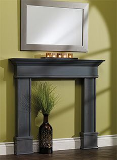 DIY Fireplace Mantel - Since Sophie decided to try hanging from ours this week~It did not end well for Sophie or the mantel!