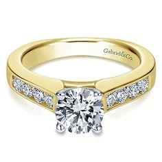 14k Yellow/white Gold Diamond Straight