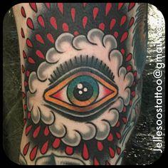 Eyeball tattoo by Jelle Soos. #inked #inkedmag #eye #eyeball #traditional #ink #art #colorful