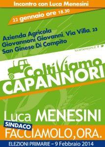 """Incontro con Luca Menesini sul tema """"Coltiviamo Capannori"""""""