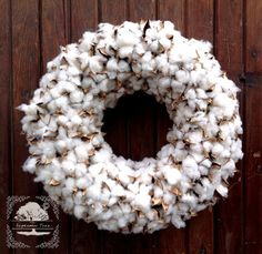 Cotton Wreath - Cotton Boll Wreath - Preserved Cotton - Spring Wreath - Year round Wreath -Welcome Wreath -Front Door Wreath -Wedding Wreath