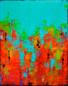 Carousel 17 24 x 30 Abstract Acrylic Painting Fine Art Shades Of Turquoise, Abstract Art, Abstract Paintings, Acrylic Painting Canvas, Art Images, Vibrant Colors, My Arts, Artsy, Fine Art