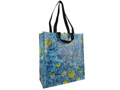 """We're firmly on the side of """"abstract night sky"""", but if you want to pretend it's some kind of swirling water, that's okay by us. Heck, if you want to get crazy and say it's some kind of tangled alien chest hair pattern, we won't judge. Regardless, it's a striking shopping bag - and it comes with the added bonus of a built-in personality test, since you can immediately analyze and the people around you by what they see in the picture. Starry Night Sky, Night Skies, Reusable Shopping Bags, Reusable Tote Bags, Amazing Photos, Cool Photos, Funny Inventions, Shoulder Stand, Internet Trends"""