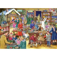 """""""Christmas Treats"""" ~ a 1000 piece jigsaw puzzle by The House Of Puzzles. Artist: Ray Cresswell (July 2014)"""