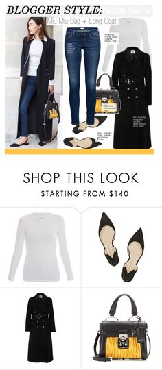 """Blogger Style-Miu Miu Bag + Long Coat"" by kusja ❤ liked on Polyvore featuring Majestic, Paul Andrew, MM6 Maison Margiela, Miu Miu, StreetStyle, BloggerStyle and nicolewarne"
