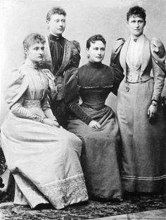 The Hesse sisters in 1906.Empress Alexandra Feodorovna of Russia,Victoria Marchioness of Milford-Haven,Grand Duchess Elisabeth Feodorovna of Russia and Irene Princess Heinrich of Prussia.A♥W