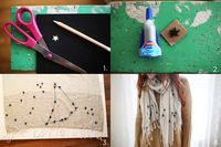 stamp and sew constellation scarf via http://www.abeautifulmess.com/2013/01/diy-constellations-scarf.html