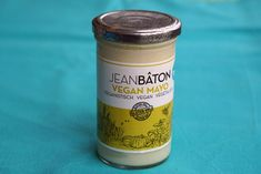 Jean Bâton vegan mayonaise Vegan Mayo, Coconut Oil, Jelly, Jar, Snacks, Desserts, Food, Tailgate Desserts, Dessert