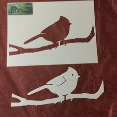 Drawing Template Bird Stencil Tracing by WildPinesStudio on Etsy
