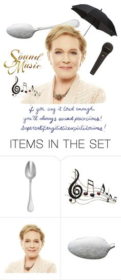"""""""Julie Andrews"""" by hayden-the-unicorn ❤ liked on Polyvore featuring art"""