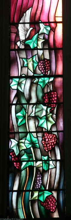 """Shaw window, Paisley Abbey  This window was made in 1988 by John K Clark and the subject of the window is """"Light and Music""""."""