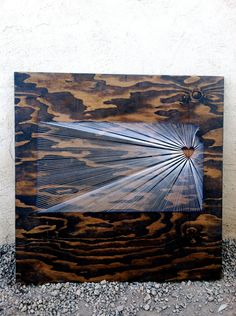 I Love my State Kansas string art 30x30 by nidification on Etsy, $65.00