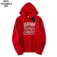 eaf903a9cb3eea Brand New Fashion RED JORDAN 23 Men Sportswear Print Men Hoodies Pullover  Hip Hop Mens tracksuit Sweatshirts Clothing M-XXL.