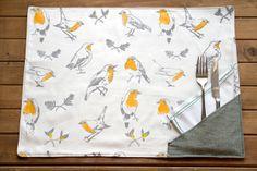 "SANTOLINA   illustration & textil » Manteles individuales ""Mesa para dos"""