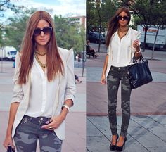 AFTERNOON IN CAMO PANTS (by Andrea Gomez http://lotoflooks.blogspot.com.es/) http://lookbook.nu/look/4078536-AFTERNOON-IN-CAMO-PANTS