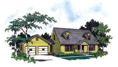 Cape Cod   House Plan 89535 Total Living Area: 1577 Main Living Area: 1029 Upper Living Area: 548 Garage Type: N/A or Unknown Garage Bays: 2 House Width: 66'0 House Depth: 25'6 Number of Stories: 2 Bedrooms: 3 Full Baths: 2 Half Baths: 1