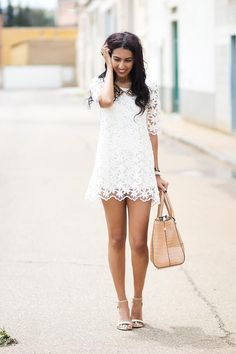 Shop this look on Kaleidoscope (dress, purse) http://kalei.do/WuMLHJXYRWPmca1F