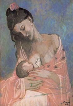 Picasso maternidad-1905   (etapa  rosa)