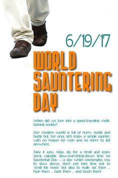 June 19 is World Sauntering Day