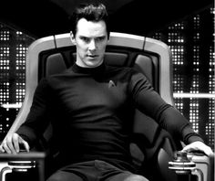 Khan / Star Trek Into Darkness  He looks completely comfortable in the captains chair, like he was born to lead. (In a way Khan was)