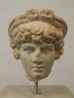 Head of Antinous probably as Priest of Attis, found in Ostia Campo della Magna Mater in the spring of 1869 Palazzo Massimo alle Terme Rome