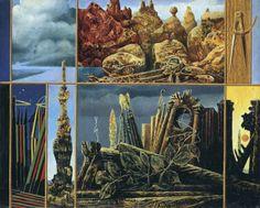Max Ernst - Peinture pour jeunes gens - 1943 Huile sur toile - 60.5 cm x 76.5 cm The Ulla and Heiner Pietzsch Collection, Berlin