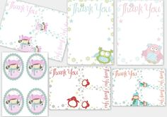 Thank You & Sticker Printables