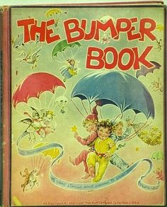 """Book Cover, """"The Bumper Book"""" by Watty Piper with illustrations by Eulalie, 1952 edition by Platt & Munk"""