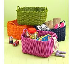 Kids Storage Collections Multi Colored Chevron Baskets College Baby Pinterest