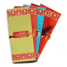 10 Floral Design Indian Money Envelopes (2 pks of 5)