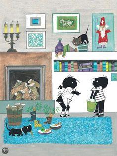 bol.com | Jip en Janneke - Sinterklaas komt!, Annie M.G. Schmidt | 9789045114132... Children's Book Illustration, Book Illustrations, Child And Child, S Pic, Pictures To Draw, Vintage Pictures, Schmidt, Vintage Postcards, Childrens Books