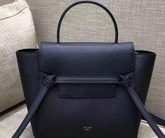 celine 2018  Cheap Celine Nano Belt bag in grained calfskin Black Celine  Handbags c5e5191188653
