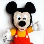 игрушки амигуруми Микки Маус