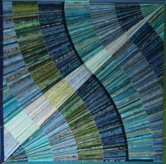 Golven art quilt by Rita Dijkstra (The Netherlands)