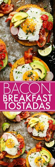 These Bacon Breakfast Tostadas are perfect for serving a group at brunch because everyone can customize their toppings & the style of eggs that they prefer.