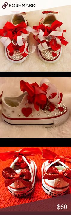ac4a3d70769ef2 Blinged out baby and kids converse. You pick size