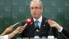 Eduardo Cunha durante coletiva