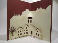 PopUp Origamic Architecture Handmade Card Depicts a  by BoldFolds, $25.00