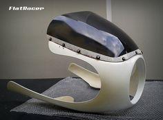 "FlatRacer BMW Cafe Racer 8"" fairing kit - dark grey tint screen - pre-trial fit"