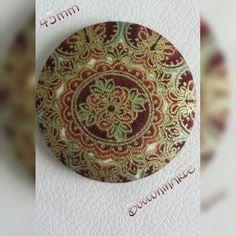 BottoninArte tessuto barocco