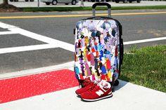 Luggage Design by Korean Artist Lee Dong Min for JWorld New Yorks Collaborative Art, Korean Artist, Long Weekend, Independence Day, Lovers Art, Fashion Art, Collaboration, Penguin, Artwork